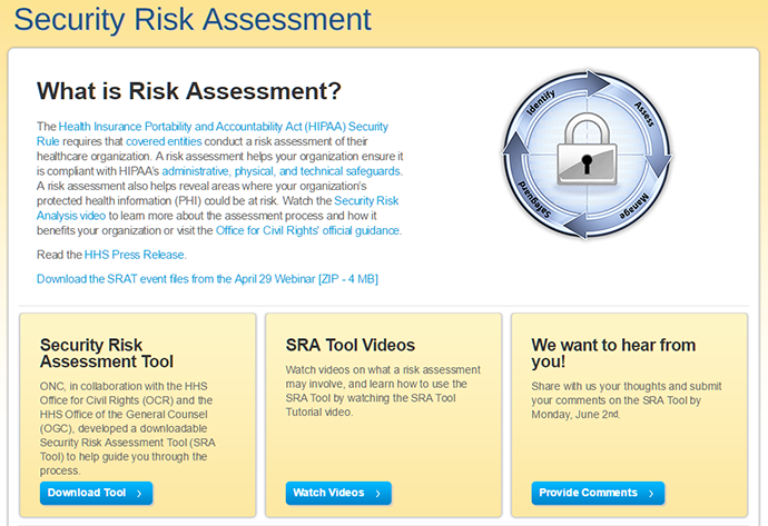 ONC Security Risk Assessment tool